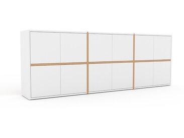 Buffet - Blanc, pièce modulable, enfilade, avec porte Blanc - 226 x 80 x 35 cm