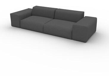 Canapé convertible - Gris Gravier, design arrondi, canapé lit confortable, moelleux et lit confortable - 296 x 72 x 107 cm, modulable