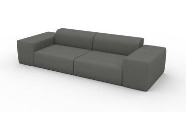 Canapé convertible - Gris Gravier, design arrondi, canapé lit confortable, moelleux et lit confortable - 294 x 72 x 107 cm, modulable