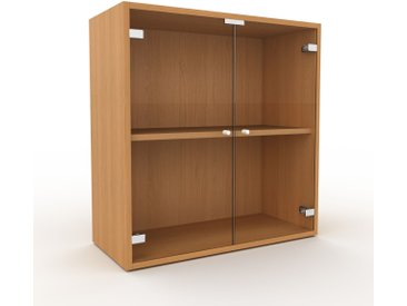 Vitrine - Verre clair transparent, moderne, pour documents, avec porte Verre clair transparent - 77 x 80 x 35 cm, personnalisable