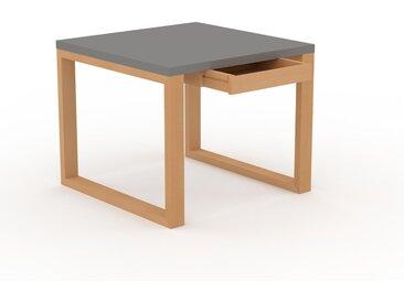 Bureau - Gris, moderne, table de travail, avec tiroir Hêtre - 90 x 75 x 90 cm, modulable