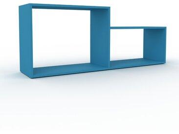 Caisson à roulette - Bleu, design, rangement mobile raffiné, pratique - 152 x 61 x 35 cm, modulable