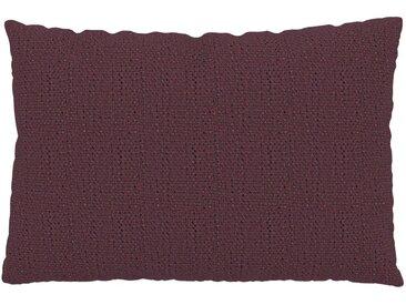 Coussin Rouge Mûre - 40x60 cm - Housse en Tissu grossier. Coussin de canapé moelleux