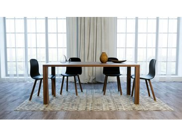 Table - Noyer, design, plateau de table raffiné - 180 x 76 x 90 cm, personnalisable