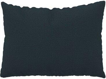 Coussin Bleu Nuit - 48x65 cm - Housse en Textile tissé. Coussin de canapé moelleux