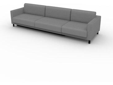 Canapé convertible - Blanc Granite, design épuré, canapé lit confortable, confortable avec coffre de rangement - 304 x 75 x 98 cm, modulable