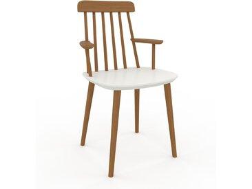 Chaise avec accoudoirs blanc de 43 x 82 x 53 cm au design unique, configurable