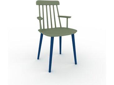 Chaise avec accoudoirs Vert de gris de 43 x 82 x 53 cm au design unique, configurable