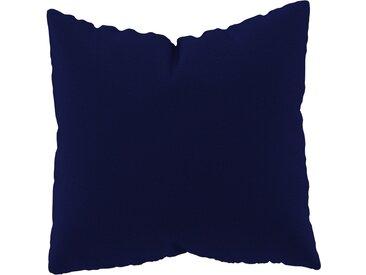 Coussin Bleu Encre - 50x50 cm - Housse en Laine. Coussin de canapé moelleux
