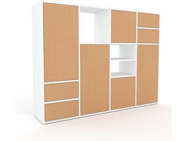 Meuble de rangements - Hêtre, design, pour documents, avec porte Hêtre et tiroir Hêtre - 156 x 118 x 35 cm