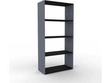 Bibliothèque - Anthracite, design, étagère pour livres, sophistiquée, ouverte et fonctionelle - 77 x 157 x 35 cm, personnalisable