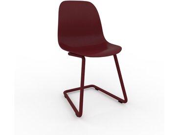 Chaise cantilever Rouge bordeaux de 49 x 82 x 44 cm au design unique, configurable