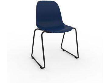 Chaise en bois Bleu nuit de 49 x 82 x 58 cm au design unique, configurable