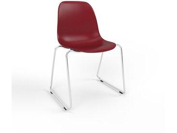 Chaise de salle à manger Rouge bordeaux de 49 x 82 x 58 cm au design unique, configurable
