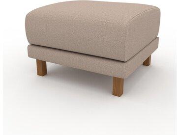 Pouf - Beige Sable, design épuré, 60 x 42 x 60 cm, modulable