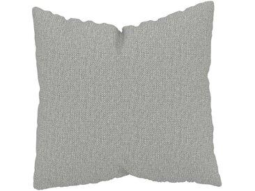 Coussin Gris Clair - 50x50 cm - Housse en Tissu grossier. Coussin de canapé moelleux