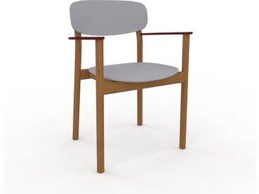 Chaise en bois Gris clair de 52 x 82 x 58 cm au design unique, configurable