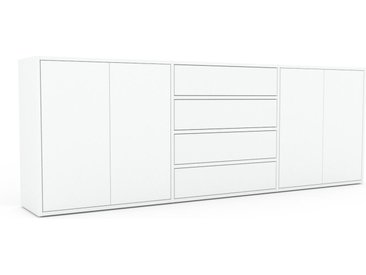 Enfilade - Blanc, design, buffet, avec porte Blanc et tiroir Blanc - 226 x 80 x 35 cm