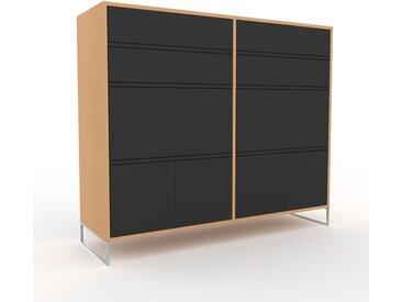 Meuble de rangements - Graphite, design, pour documents, avec porte Graphite et tiroir Graphite - 152 x 130 x 47 cm