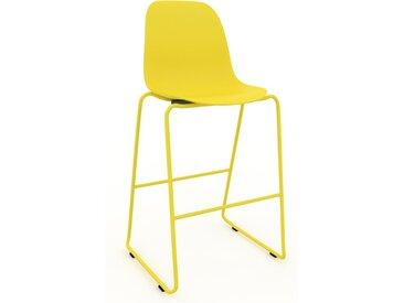 Chaise de bar Jaune citron de 49 x 112 x 58 cm au design unique, configurable
