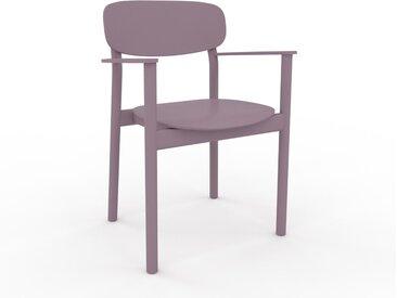 Chaise avec accoudoirs Rose poudré de 52 x 82 x 58 cm au design unique, configurable