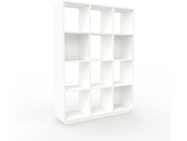 Range CD - Blanc, design contemporain, meuble pour vinyles, DVD - 118 x 162 x 35 cm, personnalisable