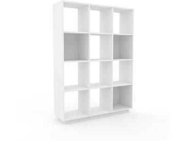 Range CD - Blanc, design contemporain, meuble pour vinyles, DVD - 118 x 162 x 35 cm, personnalisable