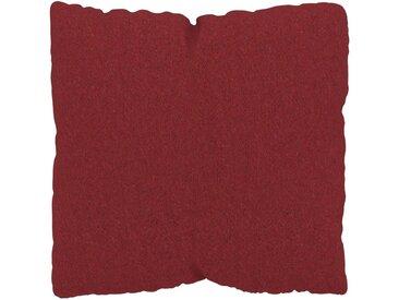 Coussin Rouge Cerise - 40x40 cm - Housse en Laine. Coussin de canapé moelleux