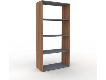 Bibliothèque - Noyer, design, étagère pour livres, sophistiquée, ouverte et fonctionelle - 77 x 157 x 35 cm, personnalisable