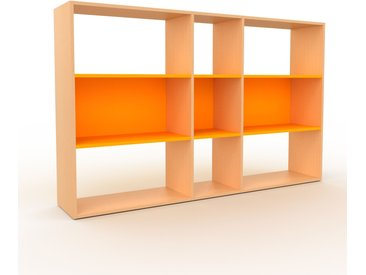 Bibliothèque - Hêtre, design, étagère pour livres, sophistiquée, ouverte et fonctionelle - 190 x 118 x 35 cm, personnalisable