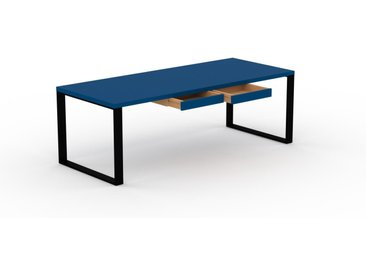 Bureau - Bleu, moderne, table de travail, avec tiroir Bleu - 220 x 75 x 90 cm, modulable