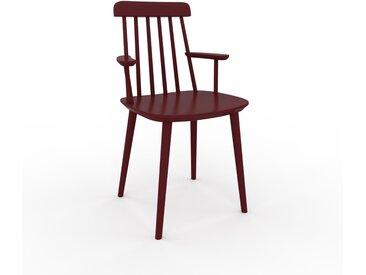 Chaise avec accoudoirs Rouge bordeaux de 43 x 82 x 53 cm au design unique, configurable