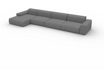 Canapé convertible - Gris Taupe, design arrondi, canapé lit confortable, moelleux et lit confortable - 445 x 72 x 168 cm, modulable