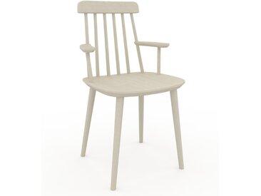 Chaise avec accoudoirs Bouleau de 43 x 82 x 53 cm au design unique, configurable