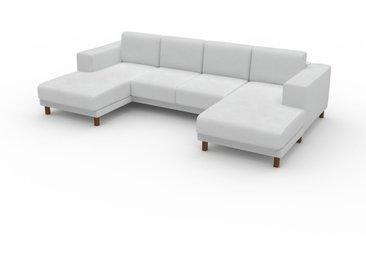 Canapé en U - Blanc, design épuré, canapé d'angle panoramique, grand et tendance, avec pieds - 288 x 75 x 162 cm, modulable