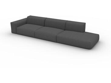Canapé convertible - Gris Gravier, design arrondi, canapé lit confortable, moelleux et lit confortable - 370 x 72 x 107 cm, modulable