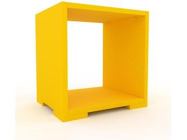 Range CD - Jaune, design contemporain, meuble pour vinyles, DVD - 41 x 43 x 35 cm, personnalisable