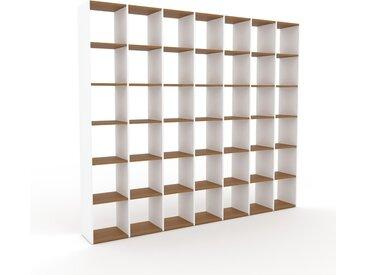 Bibliothèque - Blanc, design, étagère pour livres, sophistiquée, ouverte et fonctionelle - 272 x 233 x 35 cm, personnalisable