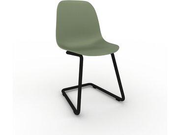 Chaise cantilever Vert de gris de 49 x 82 x 44 cm au design unique, configurable