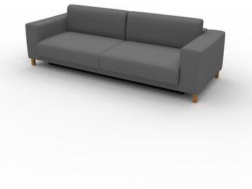 Canapé convertible - Gris pierre, design épuré, canapé lit confortable, confortable avec coffre de rangement - 248 x 75 x 98 cm, modulable