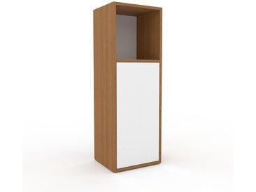 Buffet - Chêne, pièce modulable, enfilade, avec porte Blanc - 41 x 118 x 35 cm