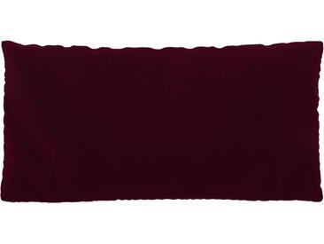 Coussin Rouge Mûre - 40x80 cm - Housse en Velours. Coussin de canapé moelleux