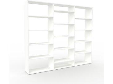 Système d'étagère - Blanc, design contemporain, rangements de qualité, modulables - 226 x 195 x 35 cm, personnalisable