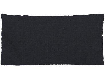 Coussin Bleu Nuit - 40x80 cm - Housse en Textile tissé. Coussin de canapé moelleux
