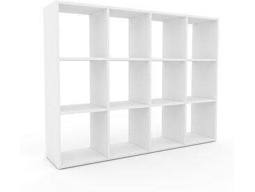 Range CD - Blanc, design contemporain, meuble pour vinyles, DVD - 156 x 118 x 35 cm, personnalisable