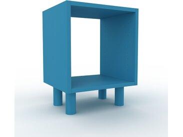 Range CD - bleu, design contemporain, meuble pour vinyles, DVD - 41 x 53 x 35 cm, personnalisable