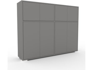 Buffet - Gris, pièce modulable, enfilade, avec porte Gris - 152 x 120 x 35 cm