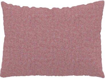 Coussin Rose Bonbon - 48x65 cm - Housse en Laine chinée. Coussin de canapé moelleux