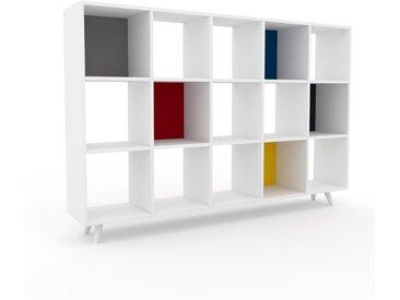 Range CD - Blanc, design contemporain, meuble pour vinyles, DVD - 195 x 130 x 35 cm, personnalisable