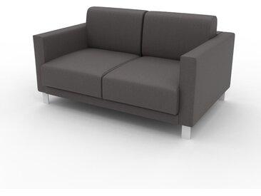 Canapé en cuir - Gris gravier Cuir Végan, lounge, esprit club ou cosy avec toucher chaleureux, 144x 75 x 98 cm, modulable
